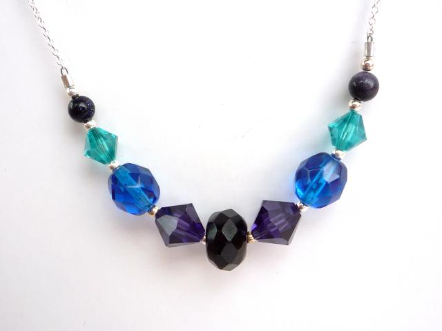 Little Koo - Jewel coloured crystal necklace