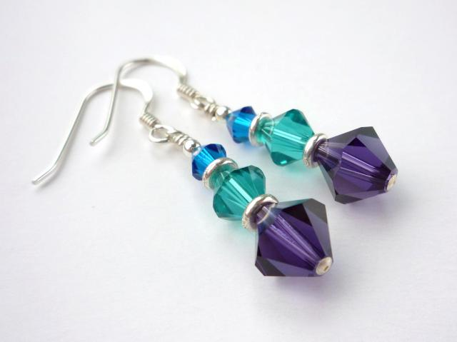 Little Koo - Purple crystal earrings
