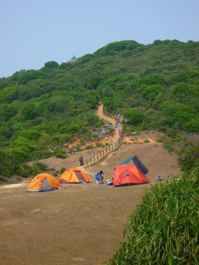 Camping on Tap Mun
