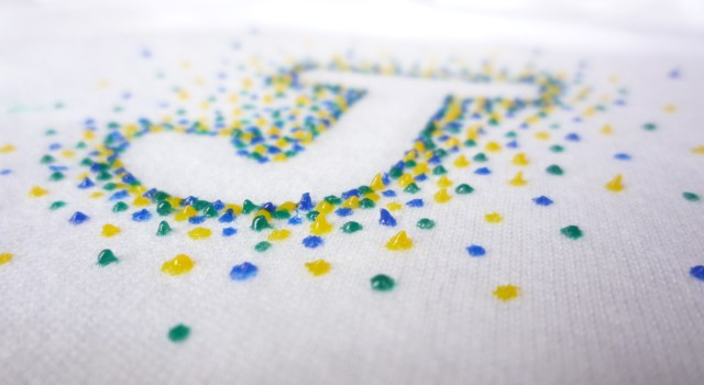 Dotted handmade onsie initial letter