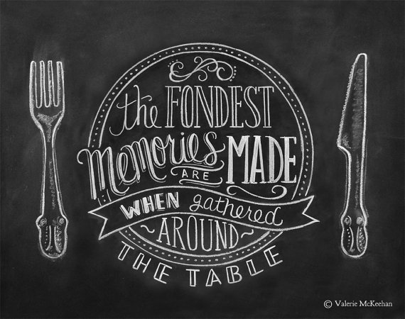 Kitchen chalkboard art - Lily and Val