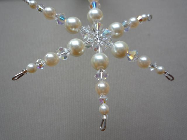 Little Koo beaded snowflake Christmas tree ornament