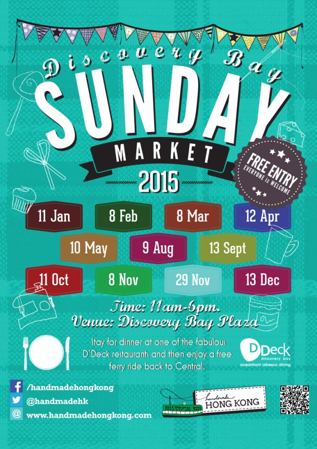 Handmade Hong Kong Sunday Markets 2015