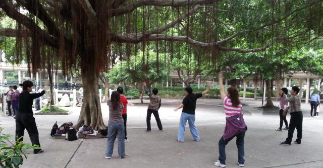 Hong Kong parks - ladies dancing - Little Koo