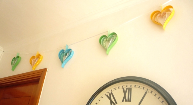 pastel colours paper strip garland
