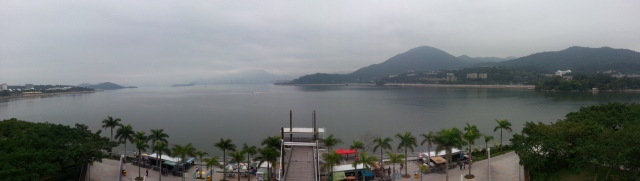 Tolo Harbour view from Tai Po Waterfront Park