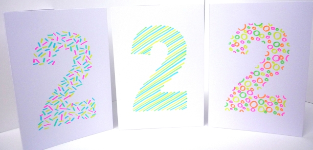 ten minute handmade monogram card