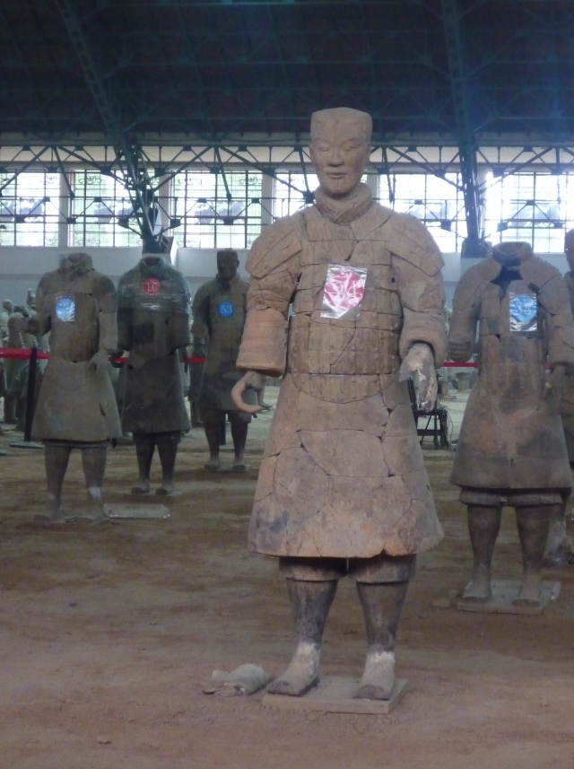 Terracotta warrior re-assembled