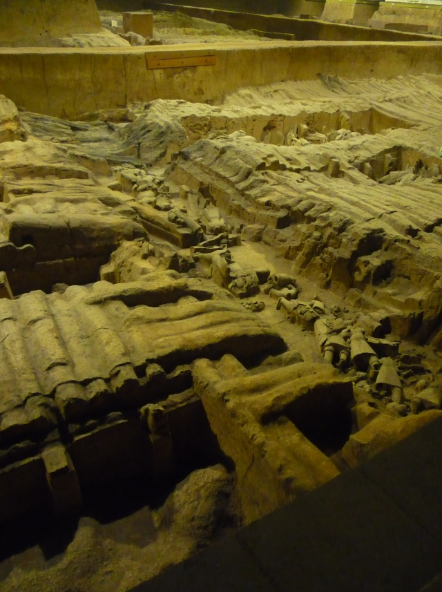 Terracotta warriors excavated pit