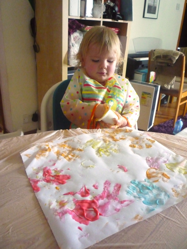 toddler activities - edible paint
