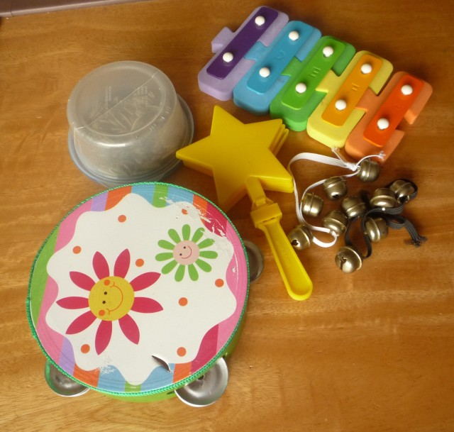 toddler activities - playing musical instruments