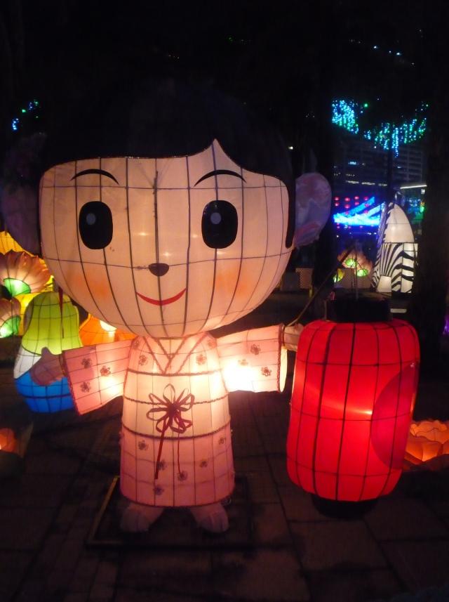 Chinese lady lantern - mid Autumn festival 2015