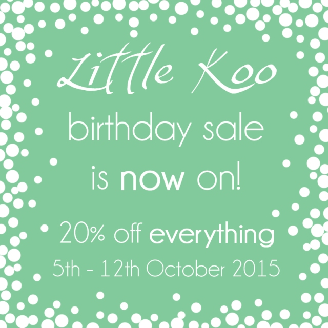 Little Koo birthday sale 2015