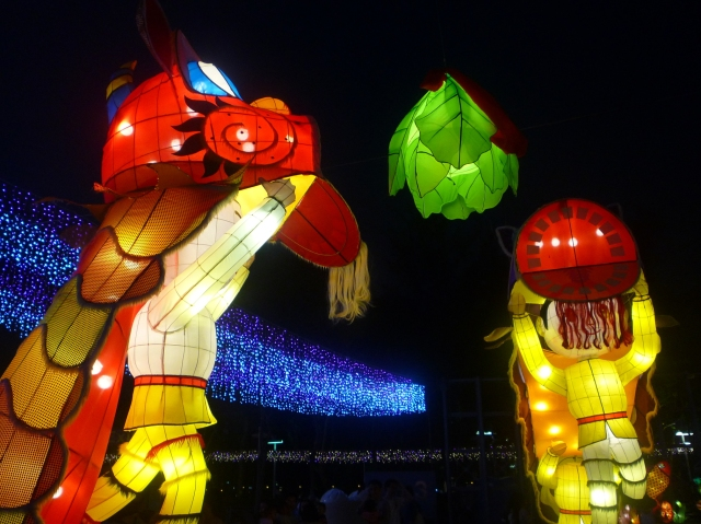 Mid Autumn festival - dragon dance lantern