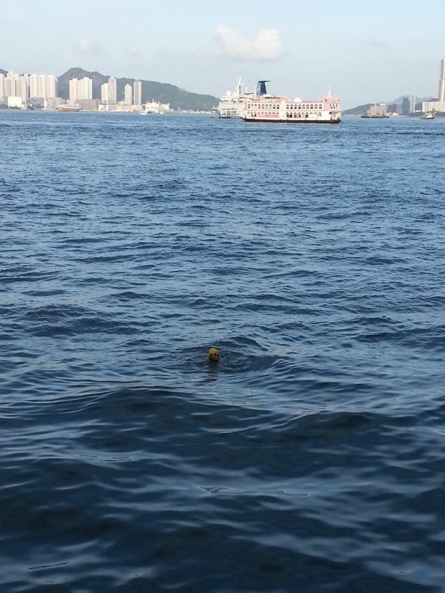 151215 Candid Hong Kong - swimming in victoria harbour 2