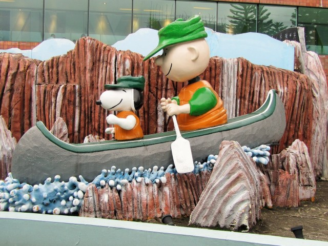 Boat ride scene Snoopy World Sha Tin