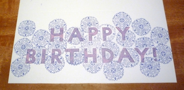 DIY stamped silhouette card