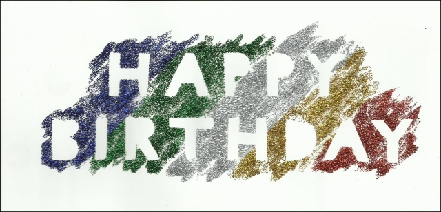 Glitter glue birthday card