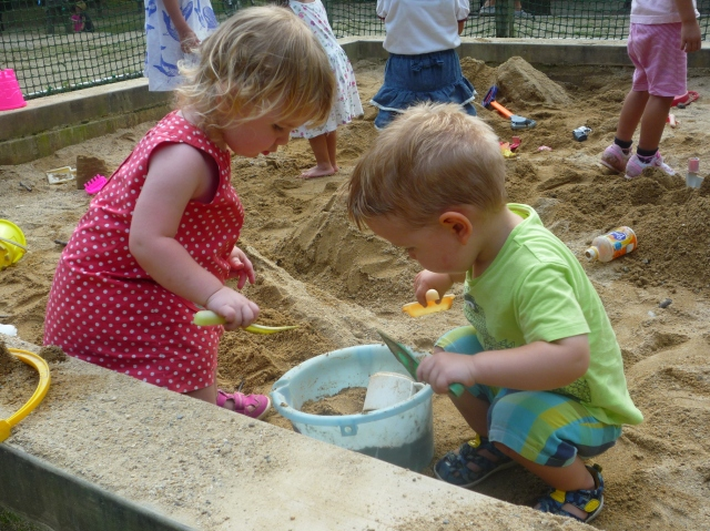 Playing in the sandpit at the Imperial Palace Park Kyoto - The Little Koo Blog