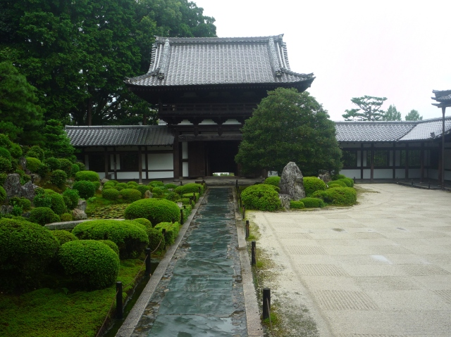 Temple view at Tofuku-ji Kyoto - The Little Koo Blog