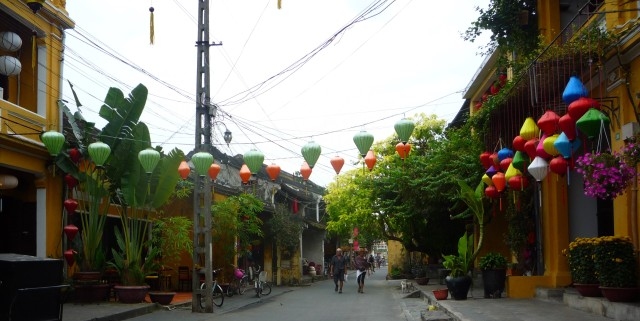 Hoi An street with lanterns