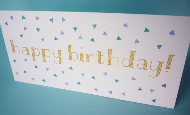 easy and simple modern birthday card tutorial