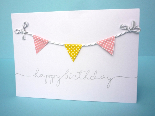 easy garland birthday card