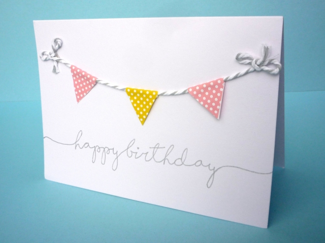easy washi tape bunting card