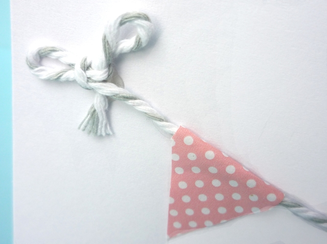 glue bunting to card