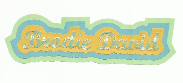 Papercraft lettering card