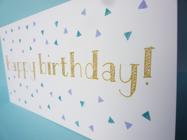 triangle stamped DIY card