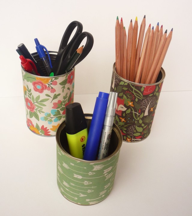 Easy recycled tin can craft