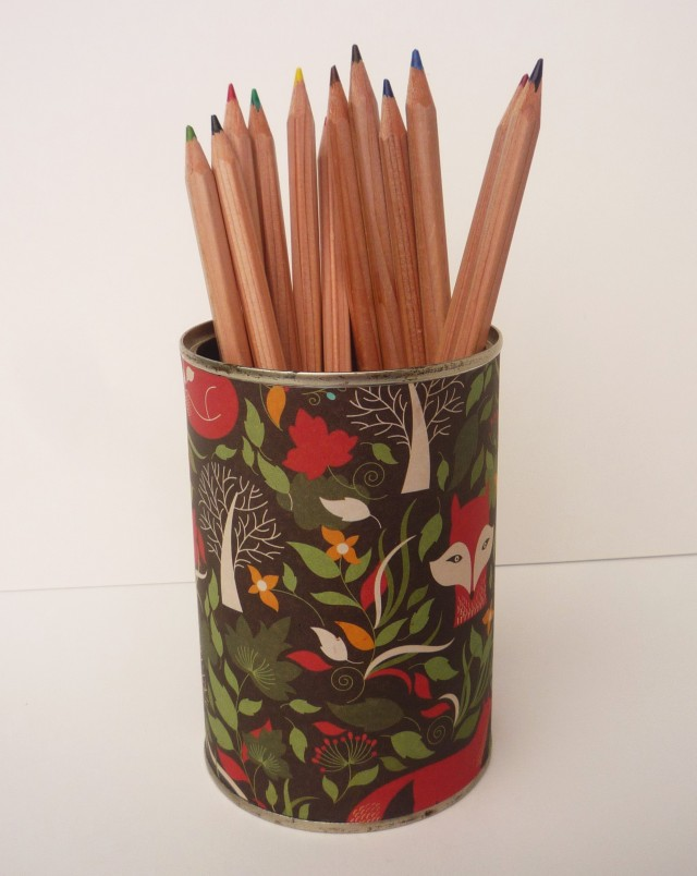 Fox paper pencil pot