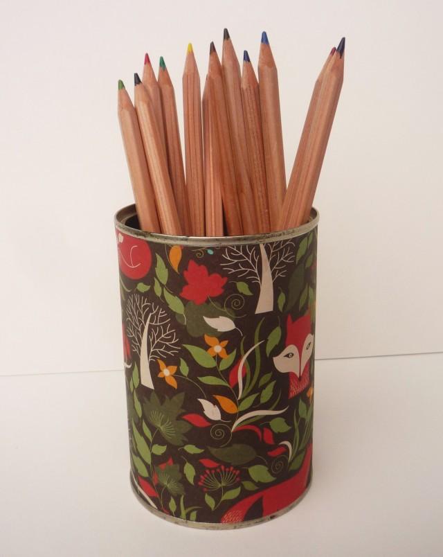 Fox paper pencil pot