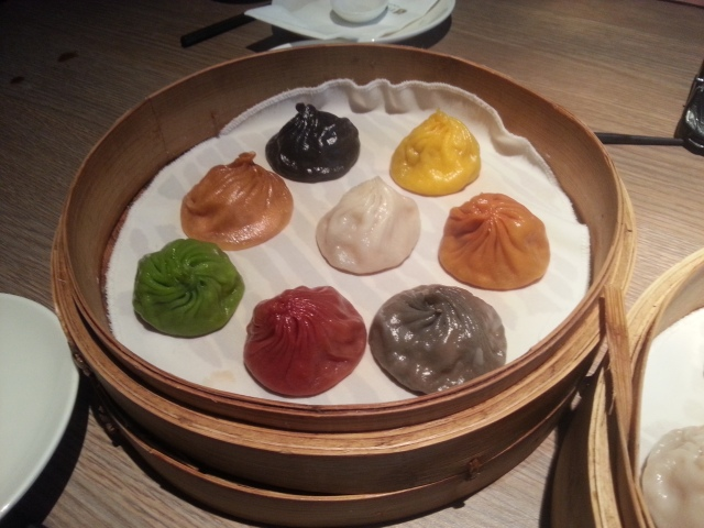 multi coloured xiao long bao at paradise dynasty