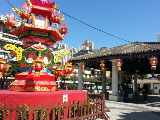 Taipa village square Macau