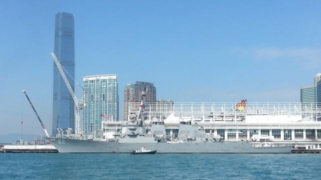 160802 Candid Hong Kong war ship
