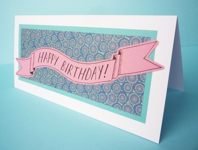 DIY happy birthday banner card