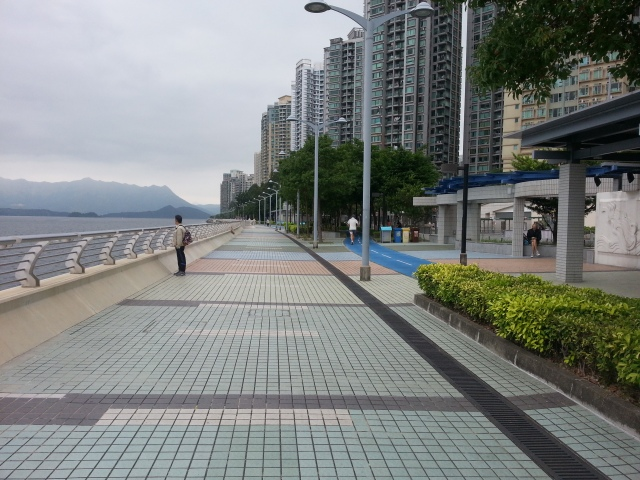 Ma On Shan promenade at Tai Shui Hang